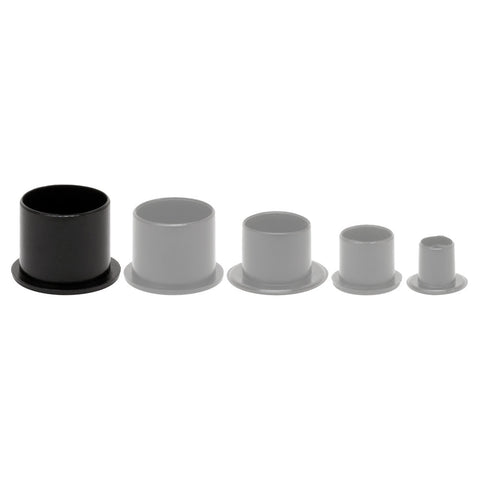 500 pcs #20 Top Hat No Spill Tattoo Ink Caps Black Plastic with Base 20mm Cup