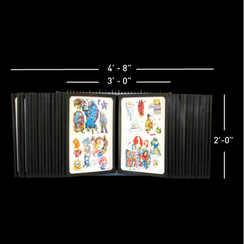 28 Pane Wall Mount Tattoo Flash Rack - Holds 112 Sheets