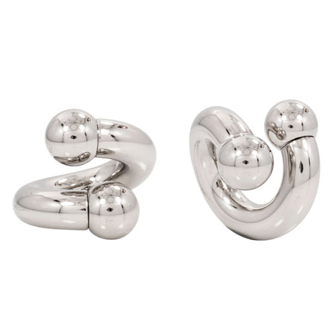 PAIR Stainless Steel Spiral TWISTER Ear Plug  6g-00g