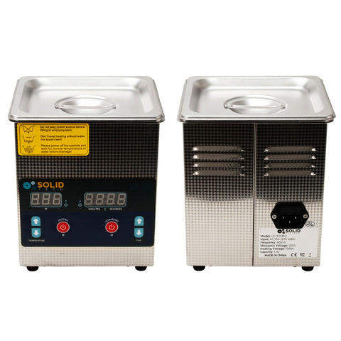 Solid Tech 1.3L Stainless Steel Digital Ultrasonic Cleaner Heater Tattoo Jewelry - Piercing Pros