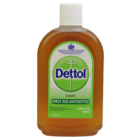 Dettol Topical First Aid Antiseptic Disinfectant Liquid 500ml 16.90 oz Cleaner