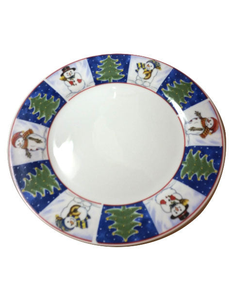 Royal Norfolk Christmas Dinner Plates S/7 - The Other Alley