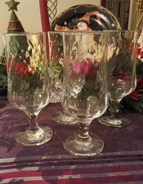 Set of 4 Optic Swirl Goblets - The Other Alley