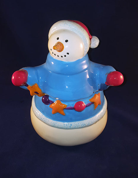 Home Spun Snowman Cookie Jar - The Other Alley