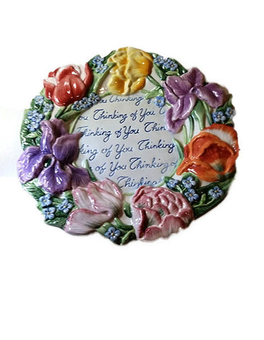 "Fitz & Floyd Essentials Spring Bouquet ""Thinking of You"" Plate"