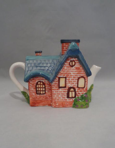 "Thomas Kinkade ""Red Brick Cottage"" Tea Pot - The Other Alley"