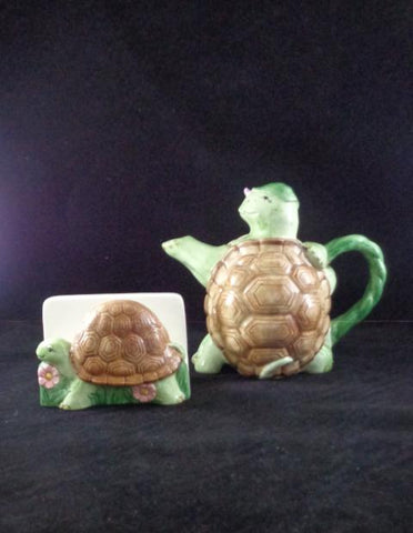 Otagiri Turtle Tea Pot And Napkin Holder
