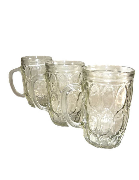 Oval Patterned Mugs  S/3