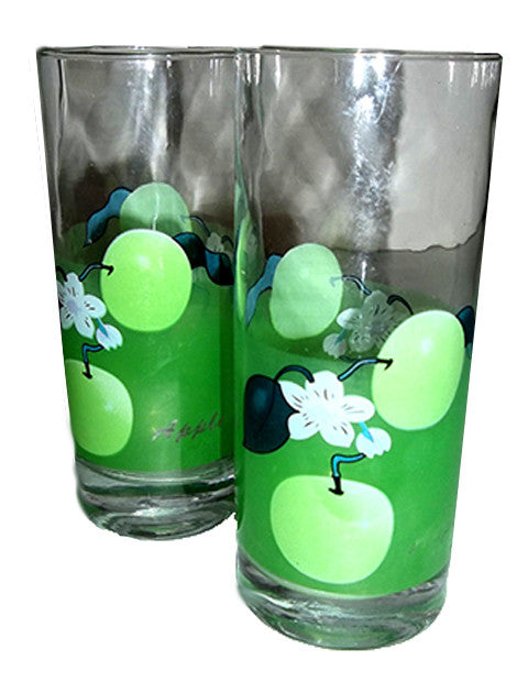 Two Green Apple Glasses Yard Sale - The Other Alley