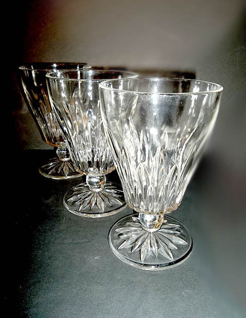 Pressed Glass Goblets - The Other Alley