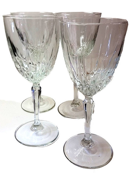 Set of 4 Cristal d'Arques-Durand Luminarc France Diamant Stemware - The Other Alley