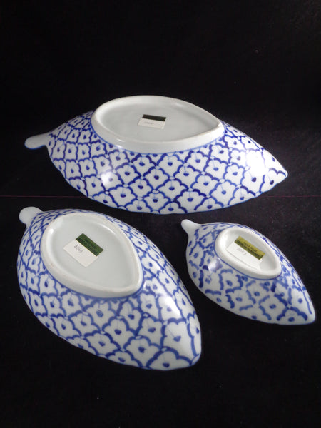 Bamboo Bay Bazaar Leaf Shaped Bowls S/3 - The Other Alley