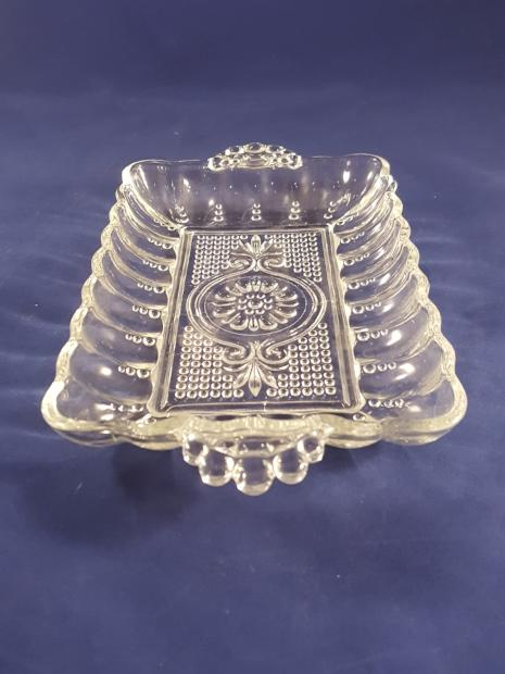 Anchor Hocking Pressed Glass Dots Relish Tray - The Other Alley