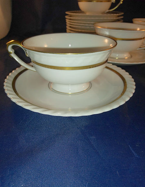 24 Piece Franconia Krautheim Aurelia Tea/Coffee Cups And Saucers - No Shipping Charges
