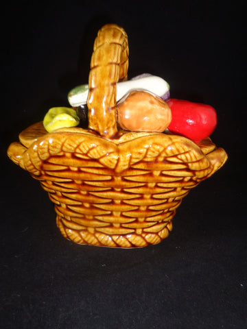 Basket Weave Condiment Bowl With Lid