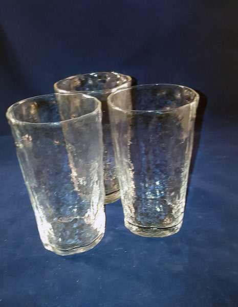 Square Round Textured Drinking Glasses - The Other Alley