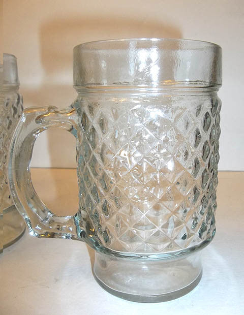 Diamond Pattern Beverage Mugs  S/4 - The Other Alley