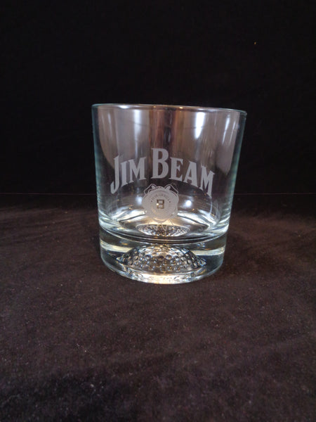 Jim Beam Rocks Glass Football On Base  S/1 - The Other Alley