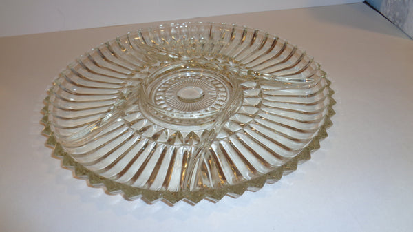 Sectioned Pressed Glass Platter - The Other Alley