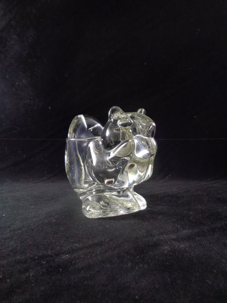 Avon Glass Squirrel/Chipmunk Votive Candle Holder