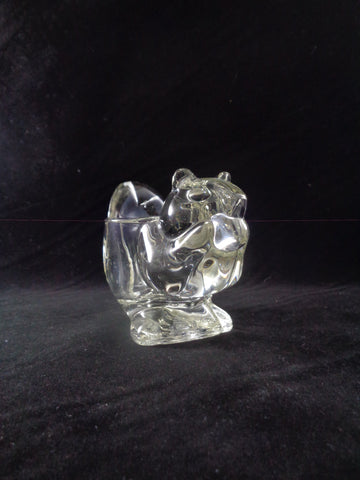 Avon Glass Squirrel/Chipmunk Votive Candle Holder - The Other Alley