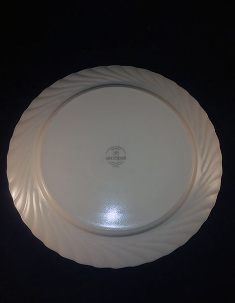 "Vintage Arcopal France ""Victoria"" Milk Glass Serving Platter - The Other Alley"