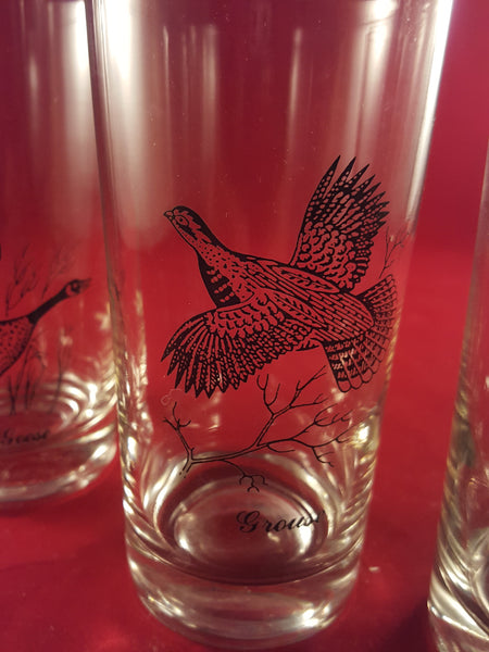 Vintage Sportsman Highball Cocktail Glasses  S/4 - The Other Alley