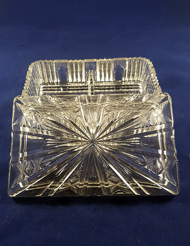 Art Deco Glass Jewelry Box - The Other Alley