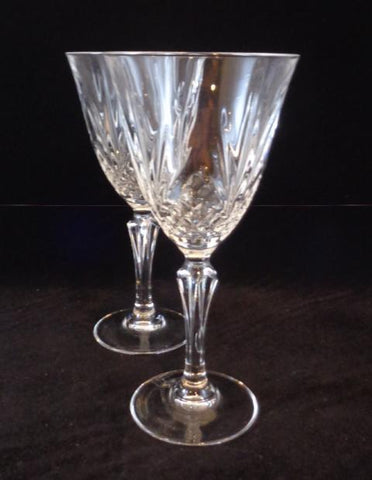 Tall Crystal Goblets  S/2