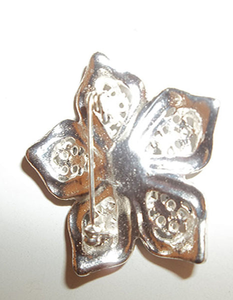 Beautiful Silvertone Brooch - The Other Alley
