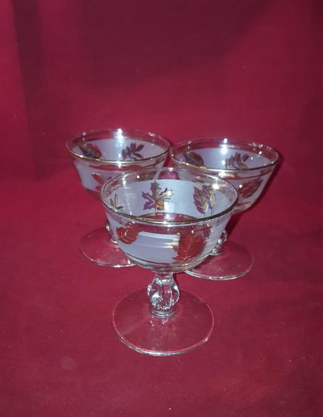 Libbey Coupes, Silver Leaf Pattern - The Other Alley