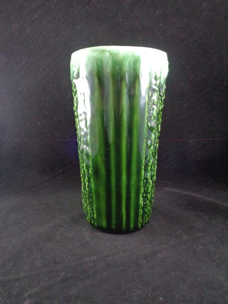 Green Textured Drip Glaze Vase - The Other Alley