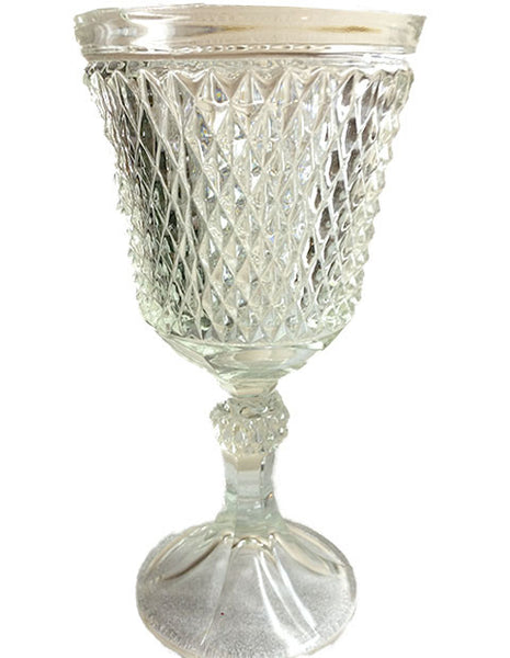 Quilted Diamond Chalice Style Vase - The Other Alley