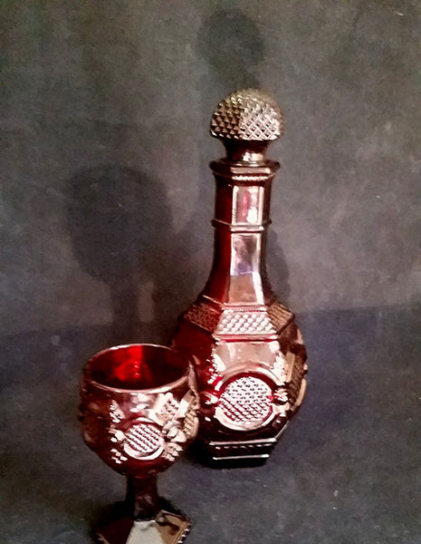 Avon Home Wedding Decanter Old Red Ruby Red Cape Cod - The Other Alley