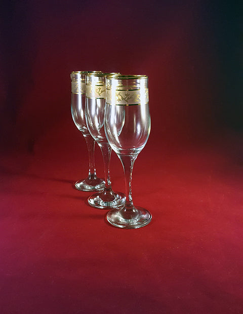 Gold Rim Flutes  S/3 - The Other Alley