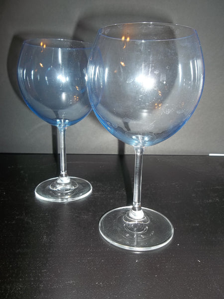 Sky Blue Crystal Balloon Stemware S/2 - The Other Alley