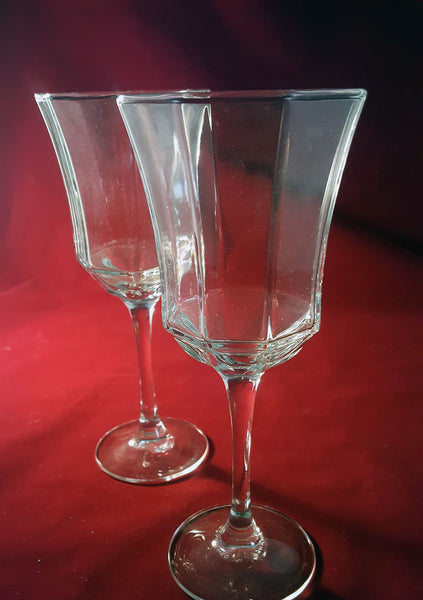 Octagon Shaped Stemware  S/2 - The Other Alley