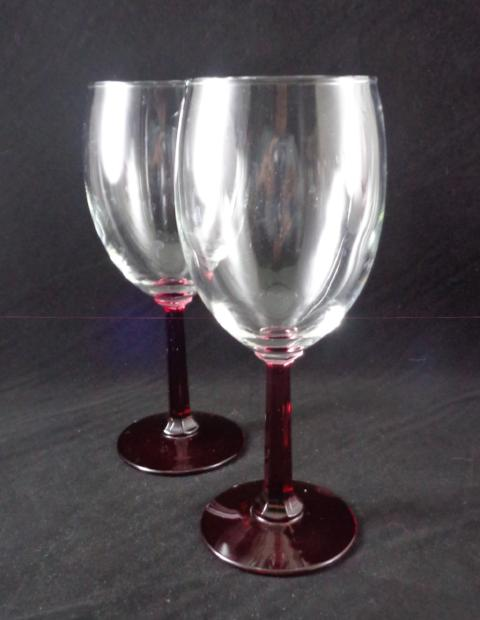 Goblets Ruby Red Stems - The Other Alley