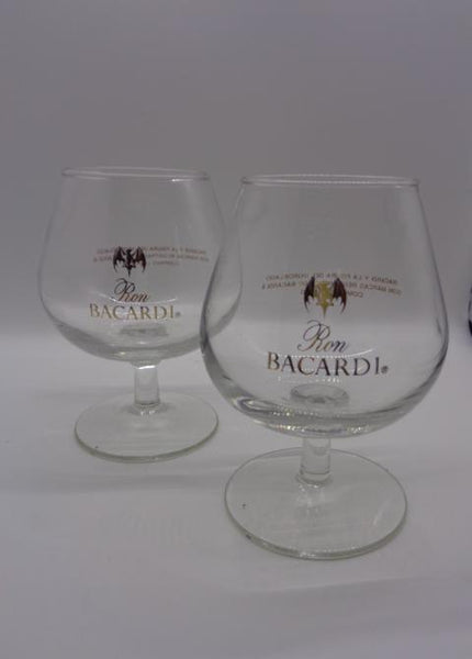 Bacardi Snifter Glasses  S/2