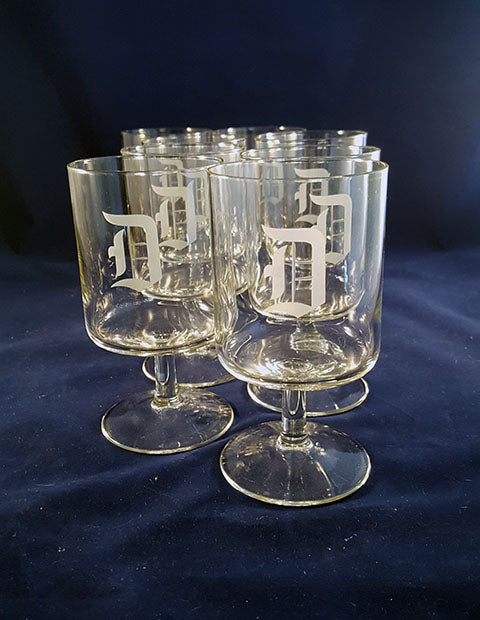 "Monogram ""D"" Water Goblets - The Other Alley"