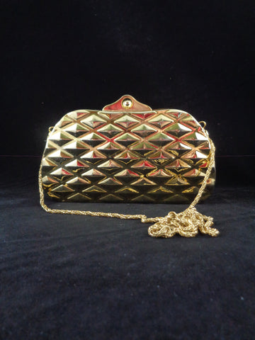 Vintage Gold Plated Clutch Bag