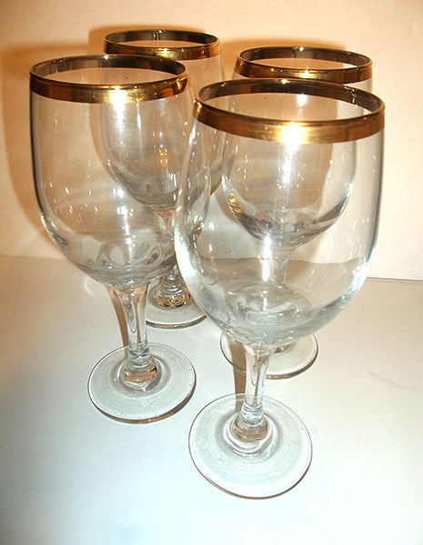 Gold Rimmed Stemware - The Other Alley