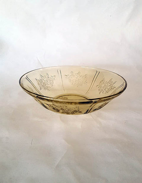 Federal Amber Depression Glass Serving Bowl - The Other Alley