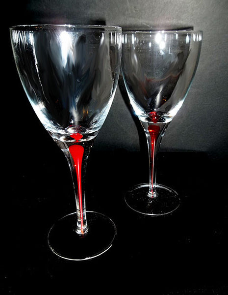 Red Drip Stemware - The Other Alley