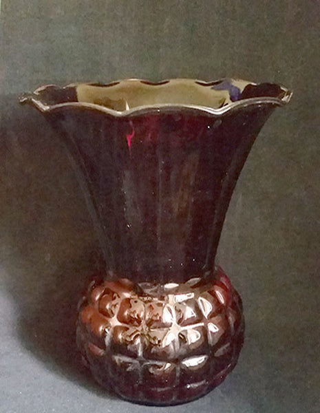 Anchor Hocking Royal Ruby Red Pineapple Vase - The Other Alley