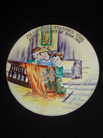 Children Praying Collector Plate From Japan