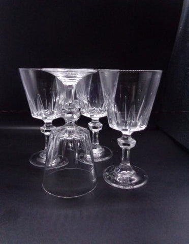 Crystal Wine Glasses With Faceted Ball Stem - The Other Alley