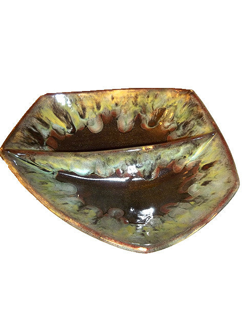 Divided Sparkling Brown Bowl - The Other Alley