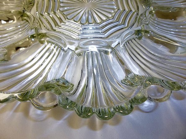 Pressed Glass Deviled Egg Plate - The Other Alley