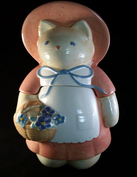 Cat Cookie Jar with Pink Dress - The Other Alley
